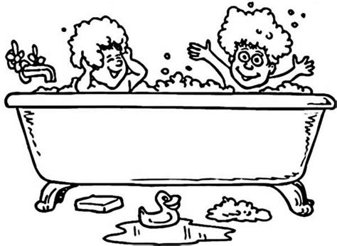 coloring page bathtub bath pin up coloring sheet coloring pages