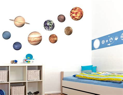 space stickers for walls space planet wall stickers contemporary wall stickers