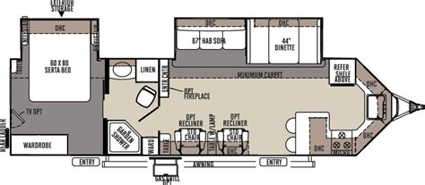 forest river travel trailers floor plans 2016 forest river rockwood windjammer 3008w cing