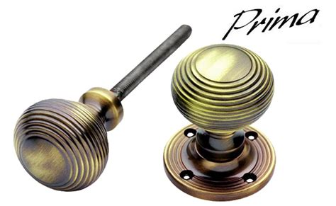 reeded door knob antique brass xl439 from the door
