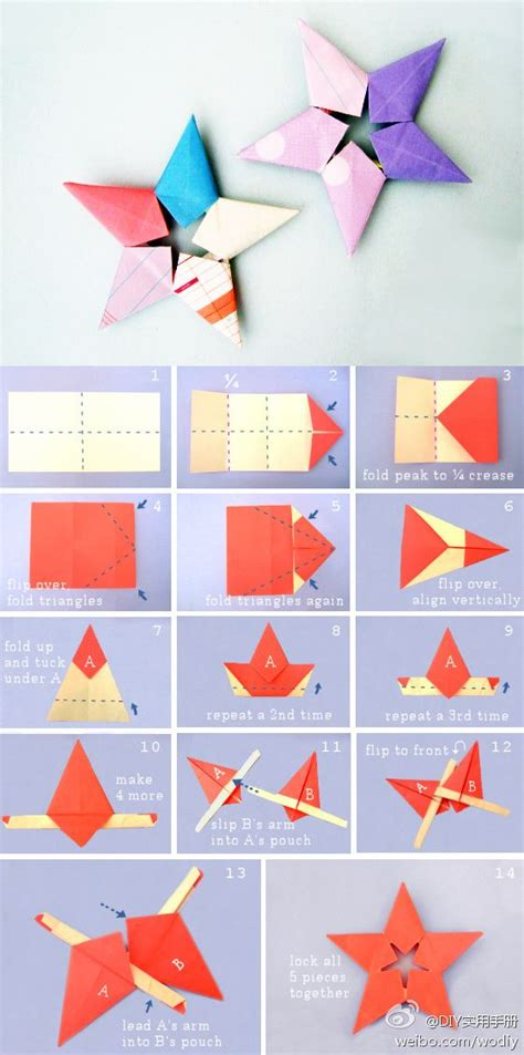 tutorial origami bintang kecil ini dia 8 cara membuat origami bintang gt do it yourself