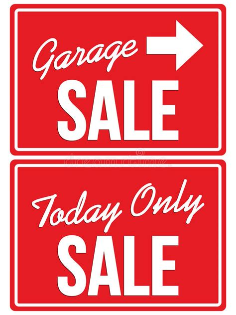 Garage Sale Today by Garage Sale And Today Only Sale Signs Stock Vector Image