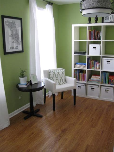 expedit bookcase contemporary den library office benjamin sweet blogging molly