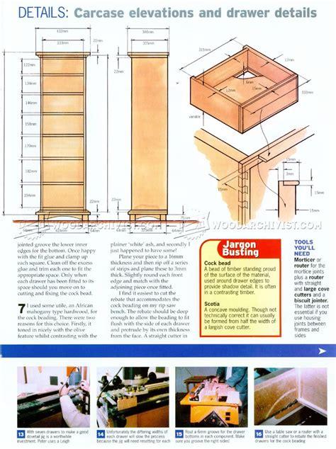 high chest  drawers plans woodarchivist