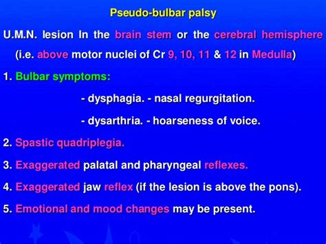 stroke mood swings bulbar cranial nerves 9 10 11 12 bulbar palsy walid