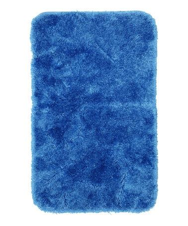 bright blue rugs bright blue royal luster bath rug