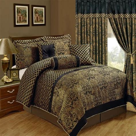 comforter set luxury bedding king size 7 piece jacquard
