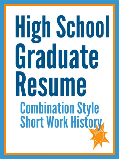 graduate schools high school graduate resume