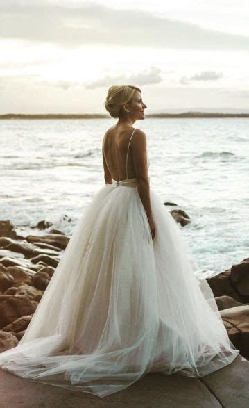 Wedding Hairstyles For Low Back Dresses by Spaghetti Low Open Back Ballgown Wedding Dress