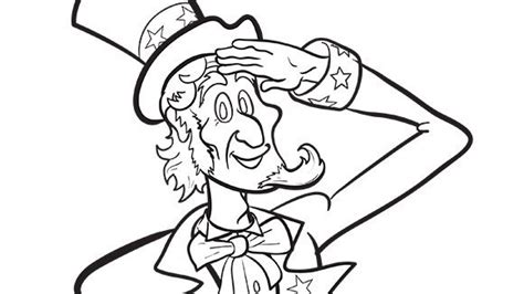 uncle sam i want you coloring page uncle sam grandparents com