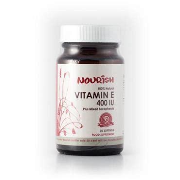 Vitamin Nourish E 400 Iu Nourish Vitamin E 400 Iu Mixed Tocopherols 30 Capsules