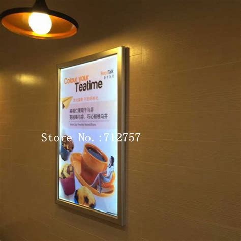 Poster Frame Steve Quote 40x 60 Cm 10pcs illuminated menu board restaurant aluminum led price list poster frame light box 40x60cm