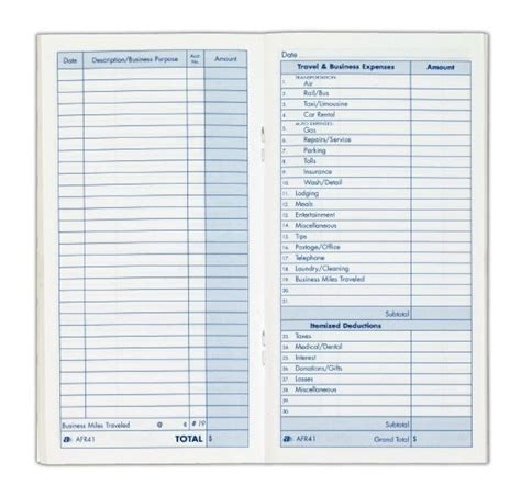 Records Home 174 Expense Record Book 3 1 2 Quot X 6 1 2 Quot