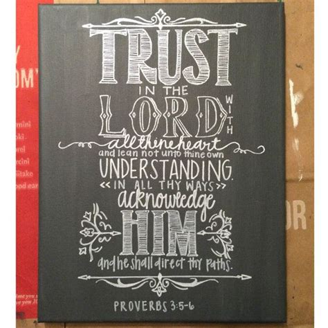 chalkboard paint quotes proverbs 3 5 6 chalkboard painting quote canvas by