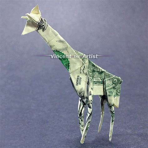Origami Giraffe Dollar Bill - pin by bonfiglio doughty on giraffes