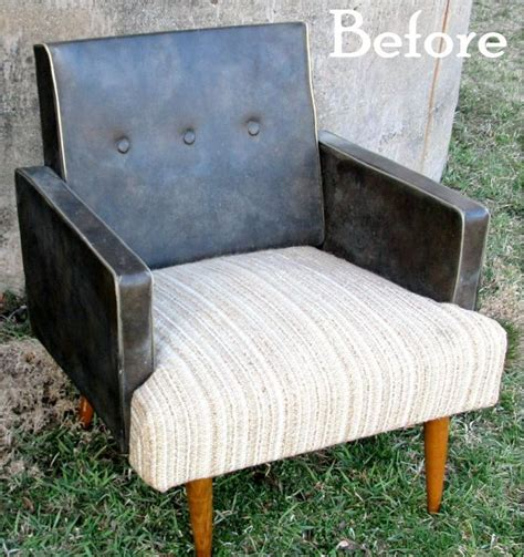 reupholster vinyl couch spray painted vinyl chair hometalk