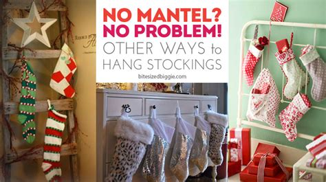 hang stockings without mantle no mantel no problem how to hang