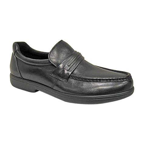 s walter wide black casual shoe slip on comfort with