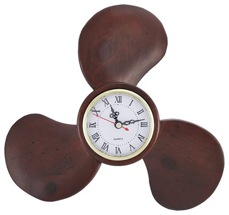 boat propeller wall clock wooden boat propellor wall clock 10 in traditional