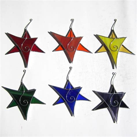 Stained Glass Ornaments - you 3 stained glass ornaments 3d stained glass