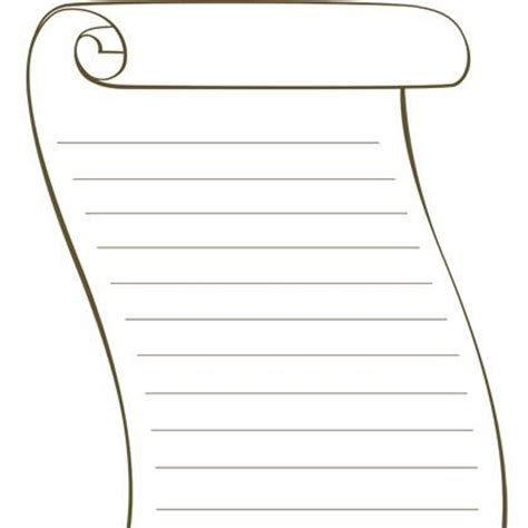 free scroll template printable printable blank scroll
