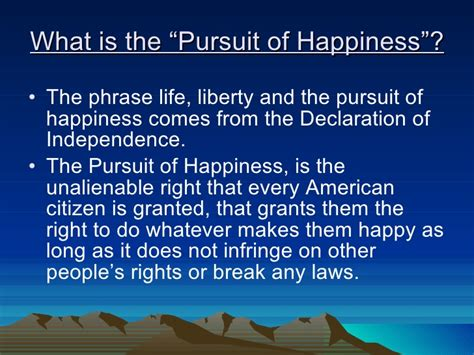 The Pursuit Of Happiness pursuit of happiness