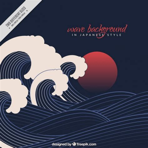 japanese style black wave background in japanese style vector free