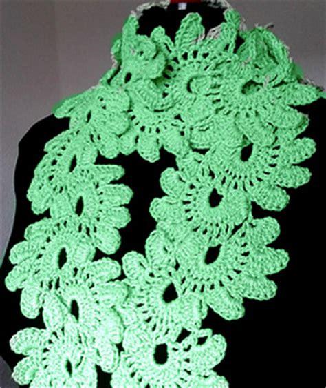 crochet lotus flower pattern ravelry lotus flower lace scarf pattern by miss nancy