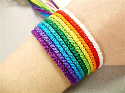 friendship bracelet colors rainbow friendship bracelet set nine color bracelets and one