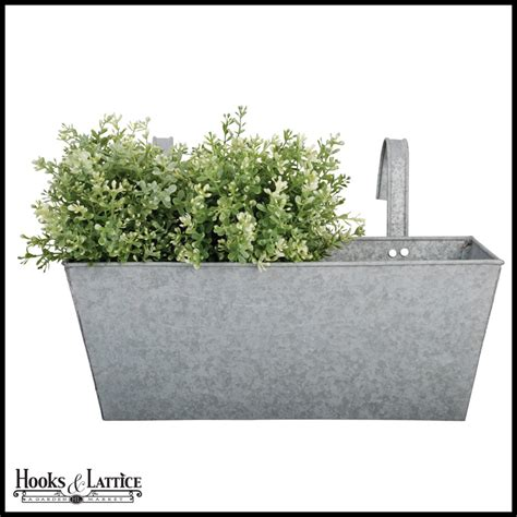 Balcony Planter Box Zinc Rectangular Flower Box Balcony Planter