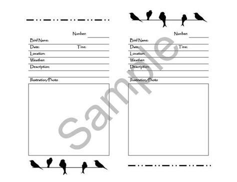 printable bird journal 17 best images about birding journals on pinterest