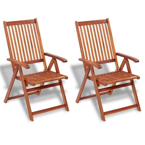 Outdoor Wood Dining Chairs Vidaxl Outdoor Dining Chair 2 Pcs Acacia Wood Vidaxl Co Uk