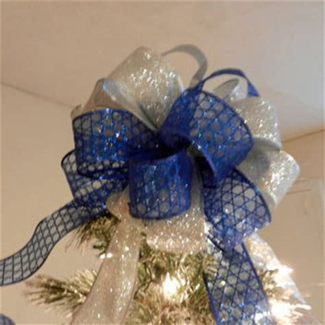 blue christmas tree bows shop large silver glitter bow on wanelo