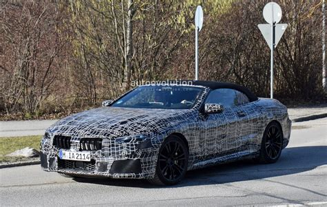 bmw  convertible spied   camouflage