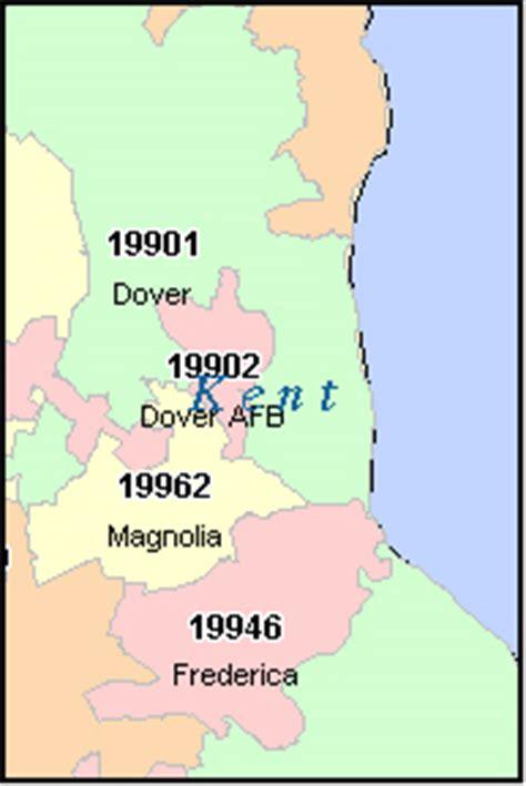 zip code map delaware kent county delaware digital zip code map