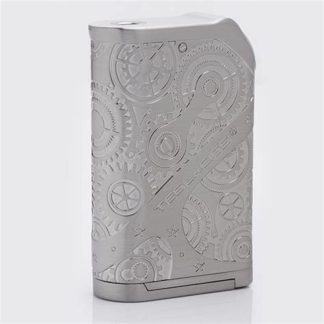 Tesla Steunk Nano Mod 120w Silver Authentic authentic tesla nano 120w tc vw variable wattage silver apv box mod