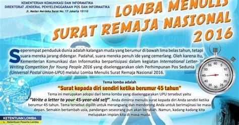 info sma smk kabupaten boyolali edaran lomba menulis