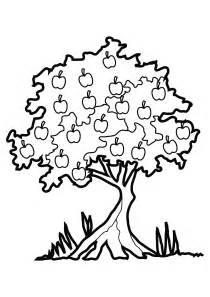 free coloring pages of apple trees collections