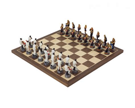themed chess sets the jazz band vs rock stars hand painted themed chess set