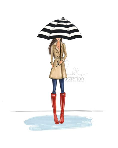 fashion illustration umbrella 142 best 风把人吹歪 the wind blows the wind images on
