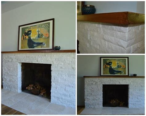 new white quartz stacked fireplace surround with