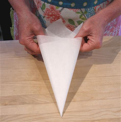 How To Fold Parchment Paper - parchment paper cone how to make for piping