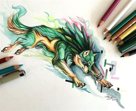 50 inspiring color pencil drawings of animals by katy
