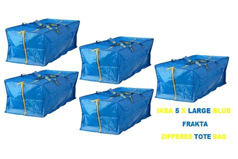 new ikea bag new ikea 5 x large blue frakta zippered tote storage ikea