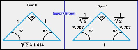 Plumbing Formula For A 45 Degree Angle by 45 45 90 Triangle Worksheet Quotes
