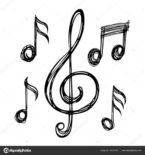 imagenes musicales notas dibujos de notas musicales vector de stock 169 alexcosmos