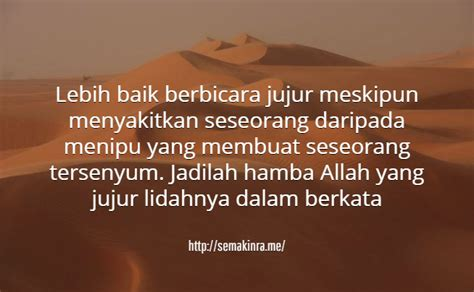 untaian kata mutiara islam tentang kejujuran kata ucapan indah bermakna