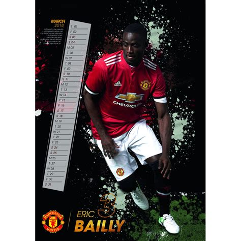 Calendar 2018 Utd Manchester United Calendar 2018 2018 Calendars At The Works
