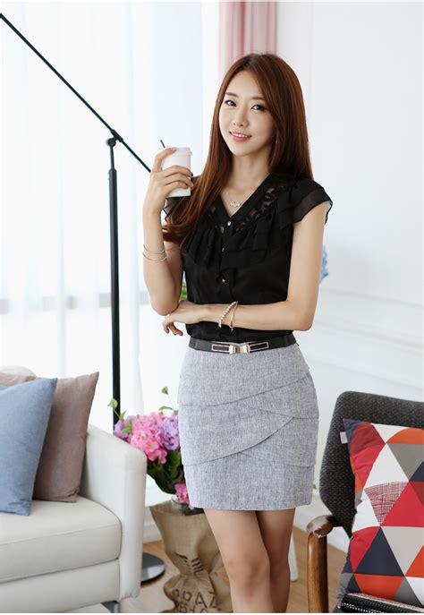 wholesale new summer black white formal blouses
