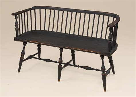 low settee historical low back windsor settee